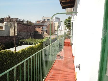 The view from upstair rooms at the house in Palermo