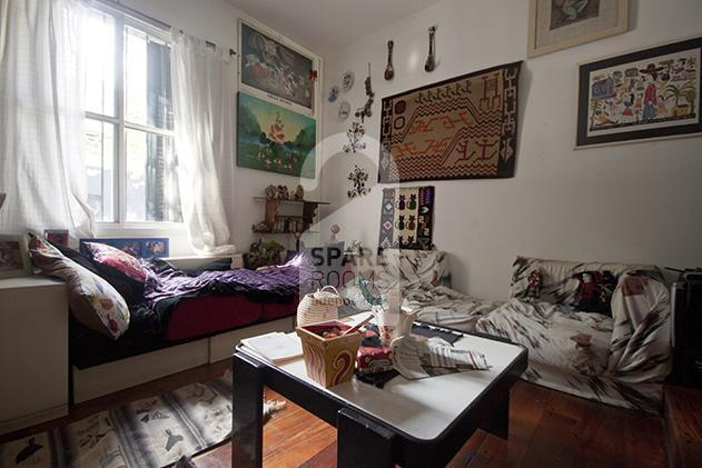 the living room at the house in Palermo