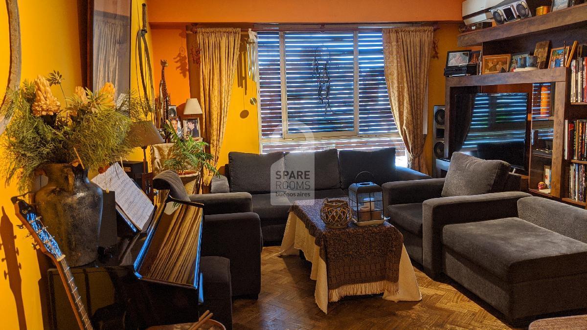 Living room en la casa en San Telmo