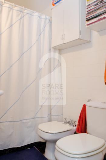 bathroom at the apartment in San Telmo
