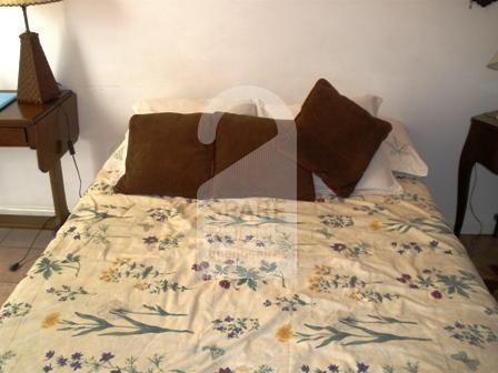 The bedroom at the apartment in Recoleta