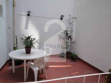 La terraza en la habitaci�n/ departamento en Palermo