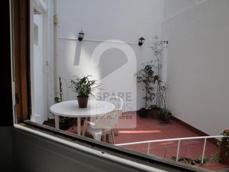 The terrace at the room/ apartment in Palermo