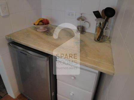 The kitchen at the room/ apartment in Palermo