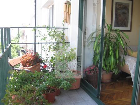The balcony at the house in Villa Crespo
