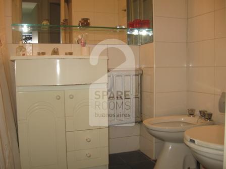 The bathroom at the house in Villa Crespo