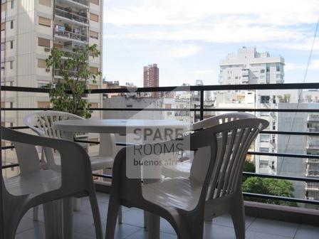 El balcón en el departamento de Belgrano