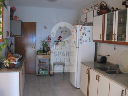 La cocina en el departamento de Belgrano