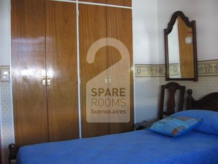 The bedroom at the apartment in Belgrano