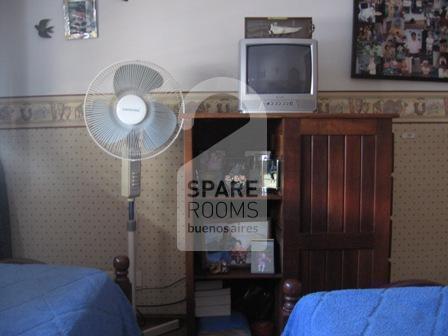 La habitación en el departamento de Belgrano