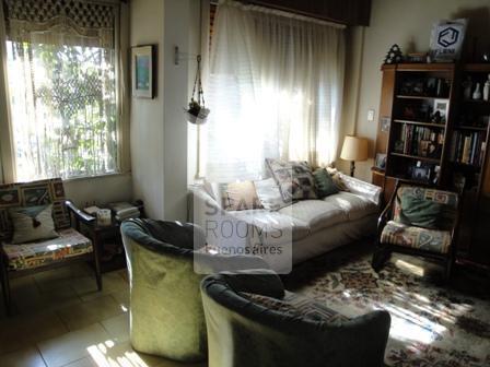 El living room en la casa en Núñez