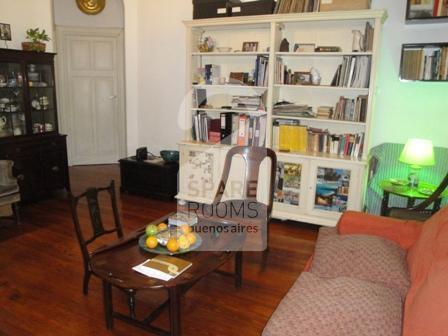 The living room at the apartment in Balvanera