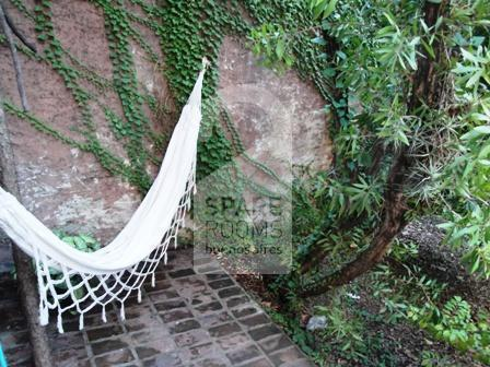 The garden at the house in Palermo
