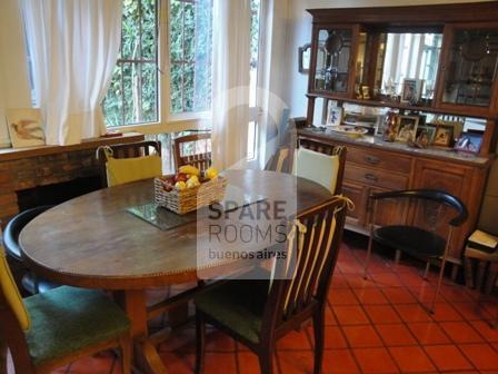 The dining room at the house in Palermo