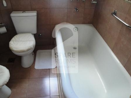 The bathroom at the apartment in Congreso