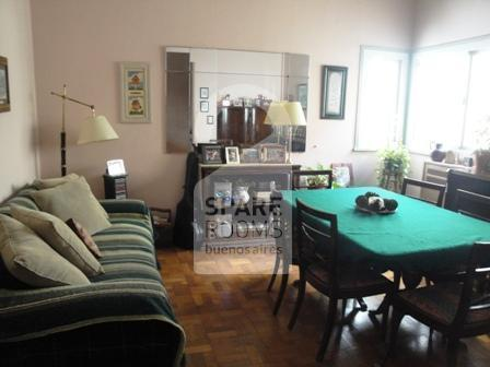 The living room at the apartment in Congreso