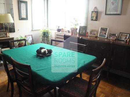 The dining room at the apartment in Congreso