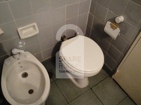 The bathroom at the apartment in Recoleta