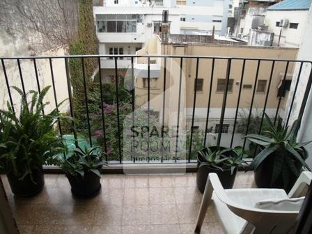 The balcony at the apartment in Belgrano