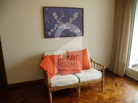 The living room at the apartment in Belgrano