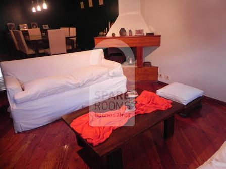 The living room at the ph in Nu�ez