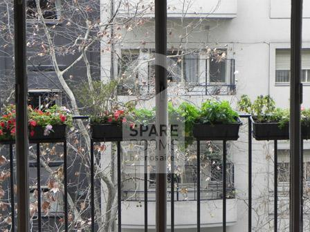 The balcony at the apartment in Recoleta