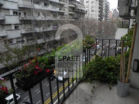 The view of the balcony at the apartment in Recoleta