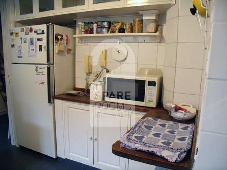 The kitchen at the apartment in Downtown