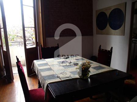 The dinning room at the house in Caballito