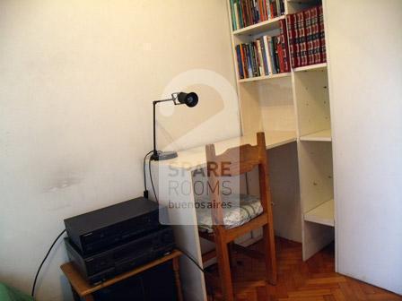 La habitación en el departamento en Villa Crespo