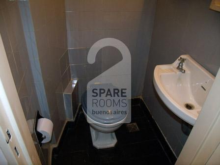The private toilette at the apartment in Villa Crespo