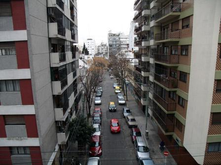 The view from the balcony at the apartment in Almagro
