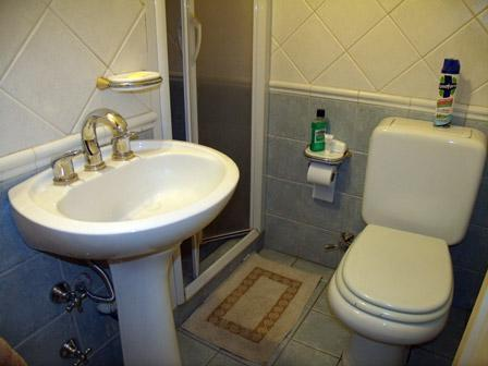 The bathroom at the apartment in Almagro