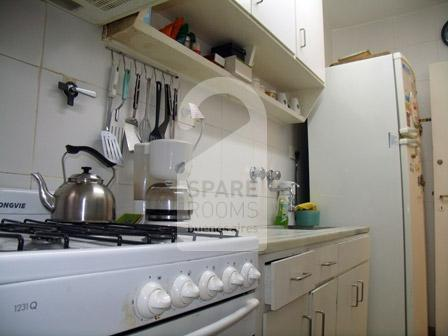 The kitchen at the apartment in Nu�ez