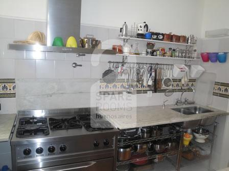 The kitchen at the apartment in San Telmo