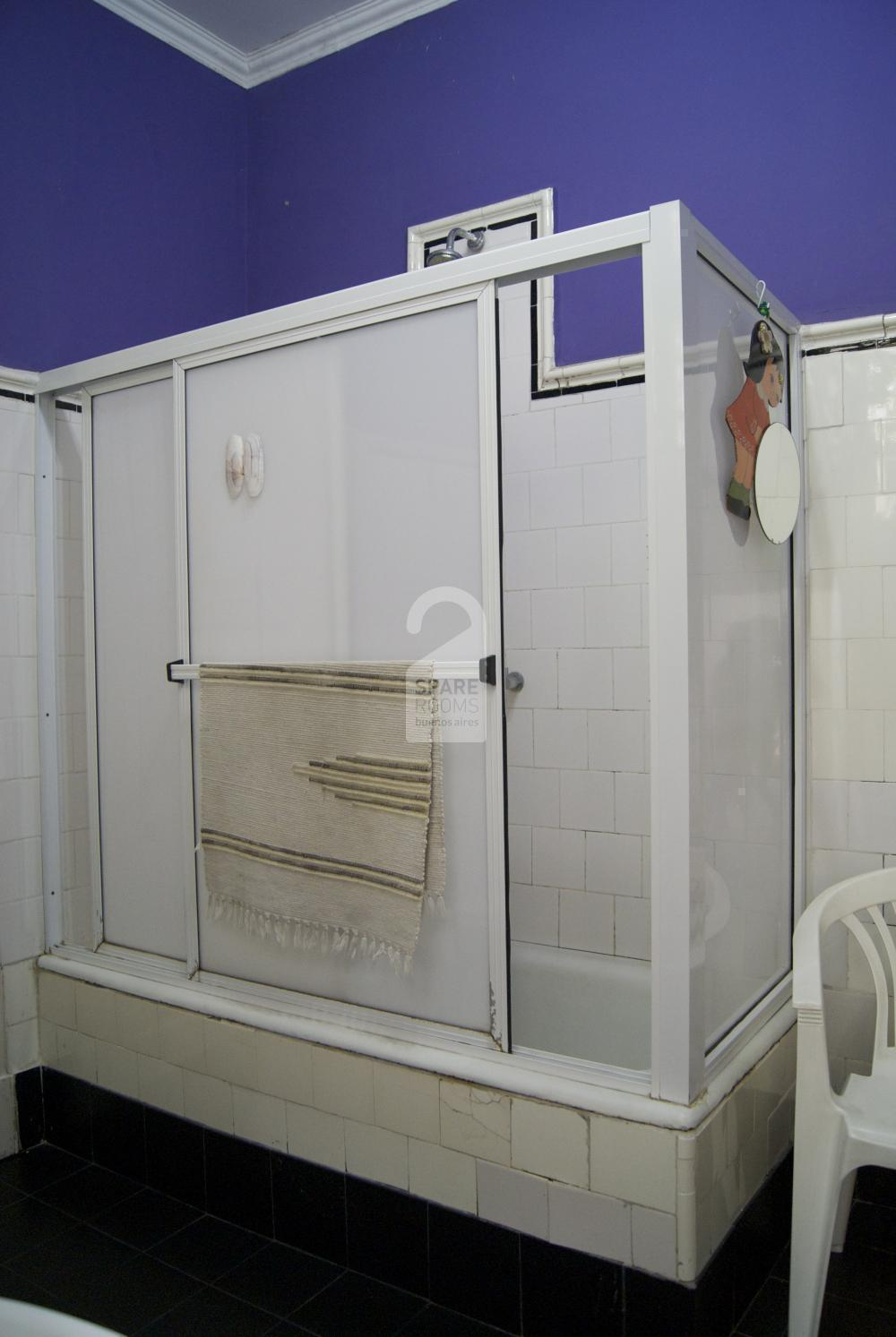 The bathroom at the apartment in Balvanera