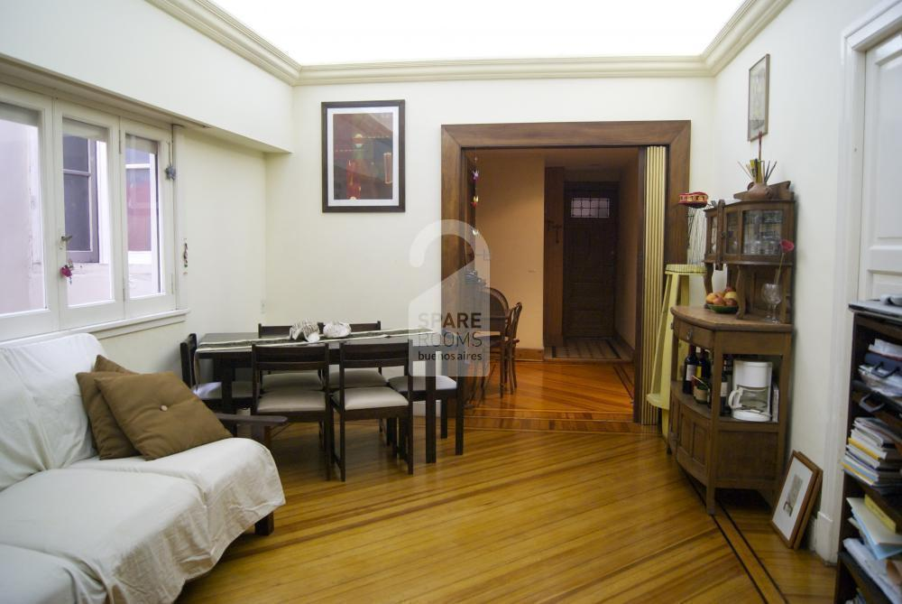 The living at the apartment in Balvanera