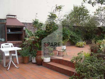 The terrace at the apartment in Palermo