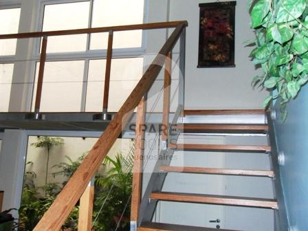 The stairs at the apartment in Recoleta