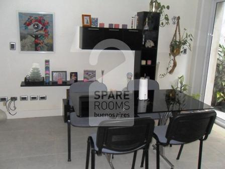 The dinning room at the apartment in Recoleta