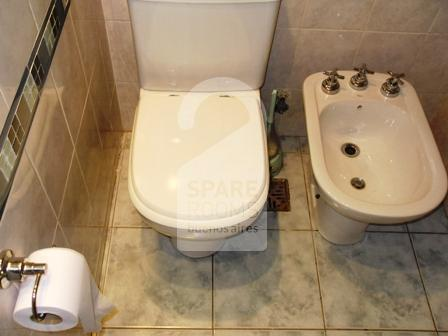 The private bathroom at the apartment in Recoleta