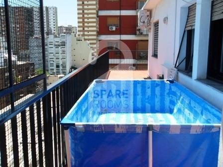 The pool at the apartment in Belgrano.