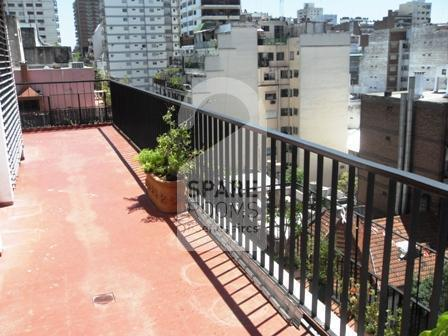 The balcony at the apartment in Belgrano.