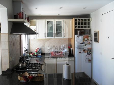The kitchen at the apartment in Belgrano.