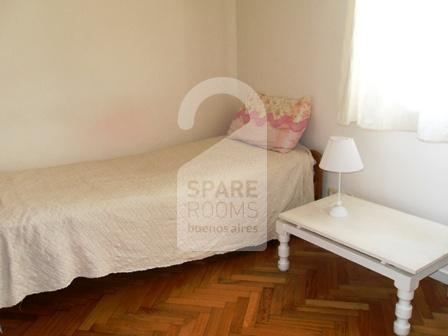 The single room at the apartment in Belgrano.
