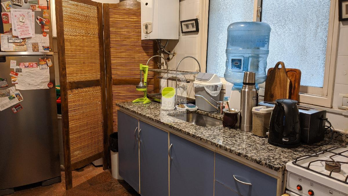 Kitchen at the house in San Telmo