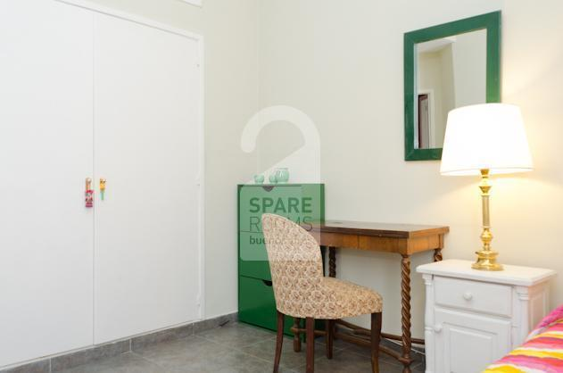 A very comfortable desk in the room at the apartment in San Telmo.