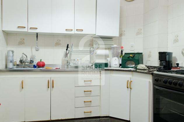The spacious kitchen  at the apartment in San Telmo.