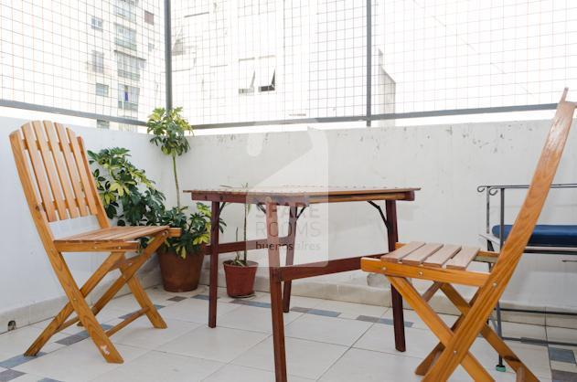 The beautiful terrace at the apartment in San Telmo.