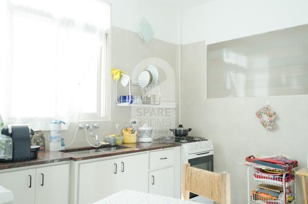The spacious kitchen  at the apartment in San Telmo.